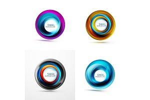 Set of abstract swirls