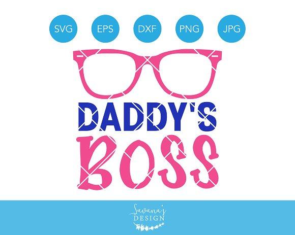 Daddys Boss SVG Baby Girl Cut File