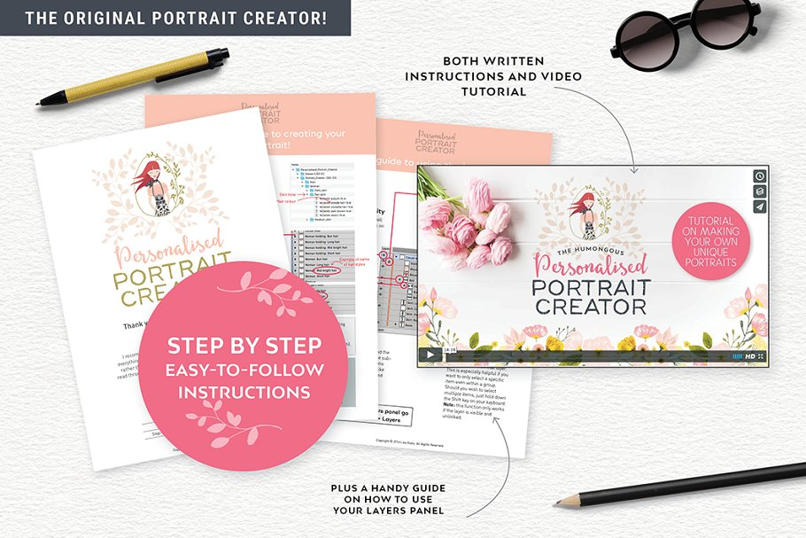 Personalised Portrait Creator in Illustrations - product preview 1