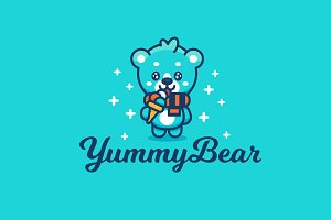 Yummy Bear Cute Logo