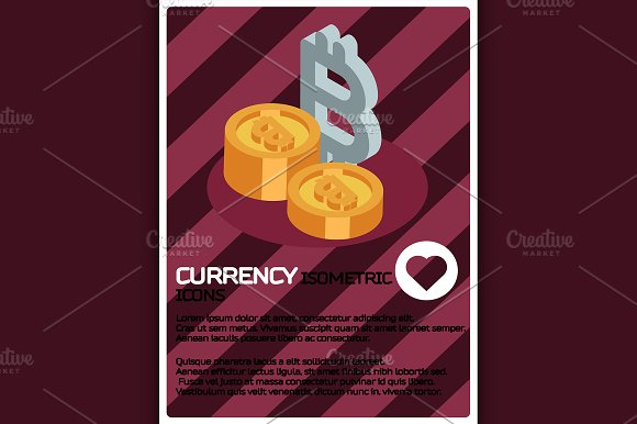 Currency Color Isometric Poster