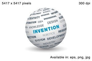 3d globe - Invention