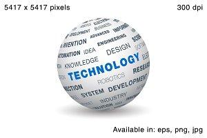 3d globe - Technology