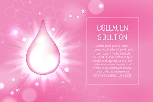 Cosmetic collagen drop and bokeh lights