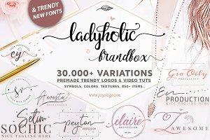 Ladyholic Premade Logo Branding Pack