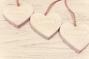 love, dream, wish