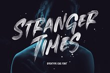 Stranger Times - OpenType SVG Font