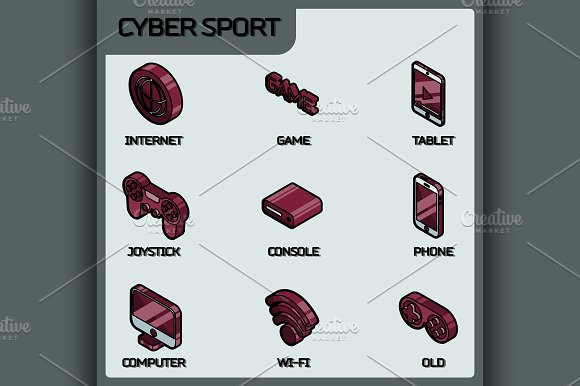 Cyber Sport Color Icons