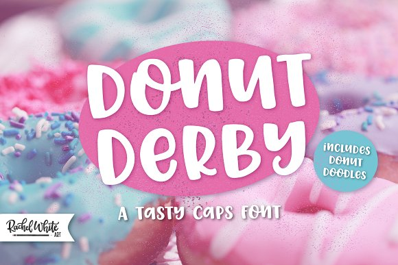 Donut Derby A Tasty Caps Font
