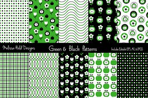 Green & Black Patterns
