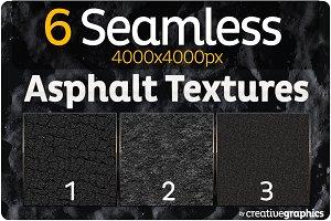 6 Seamless Asphalt Textures