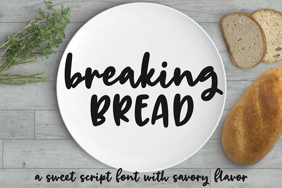 Breaking Bread A Chunky Script Font