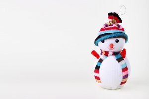 Snowman. Christmas background.