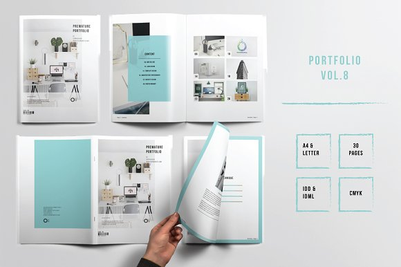 portfolio template indesign vol 8 brochure templates creative