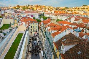 cityscape Lisbon downtown Portugal