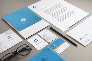Brand stationery mockup bundle