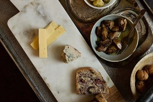 Cheeseboard preserves artisan bread