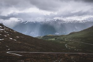 Mountain Road and Rain Clouds