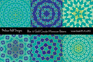 Blue & Gold Circular Patterns