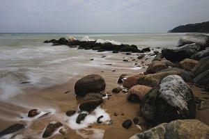 Baltic Sea Coast with Rocks and Sand