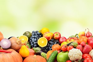 Panorama fruits and vegetables