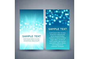 Blue bokeh flyer templates