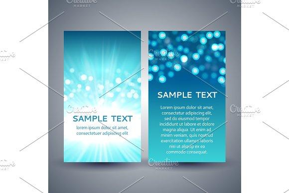 Blue Bokeh Flyer Templates