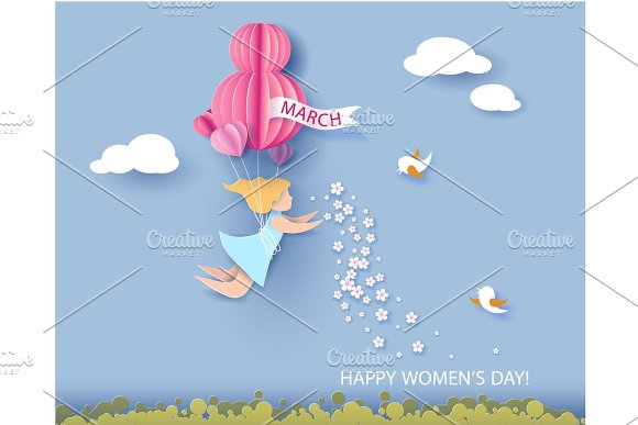 Card For 8 March Womens Day