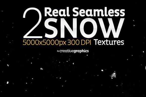 2 Real Seamless Snow Textures