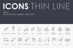 Fishing thinline icons
