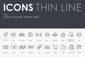 Sale thinline icons