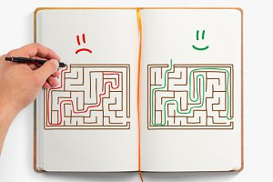 Hand-drawn Labyrinths