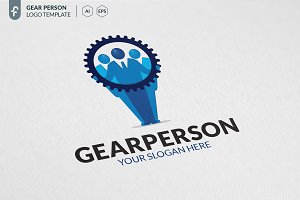 Gear Person Logo
