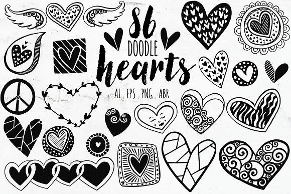 Vector Heart PNG Doodle ClipArt