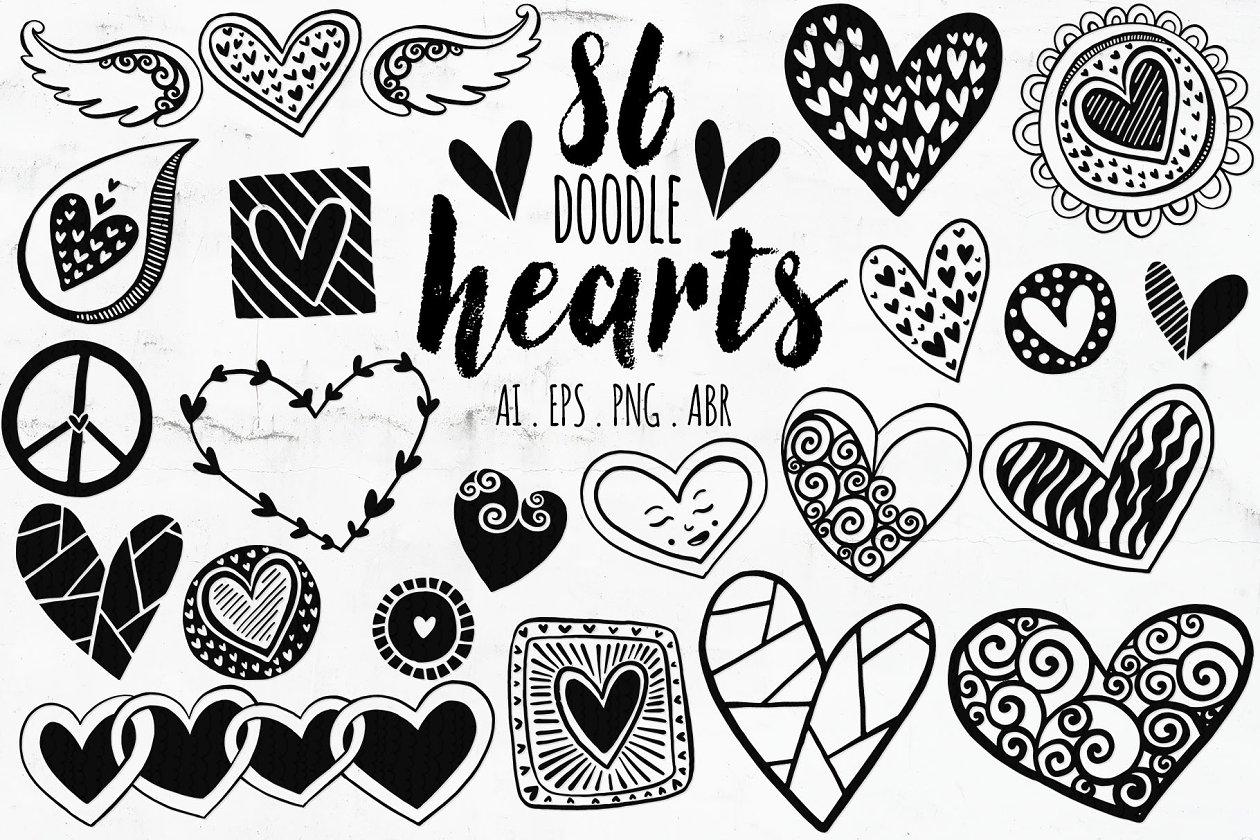 Heart Borders & Heart Dividers - Illustrations | Creative ...