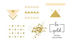 24 invitations with gold texture