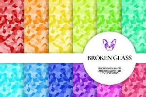 Broken Glass Digital Papers
