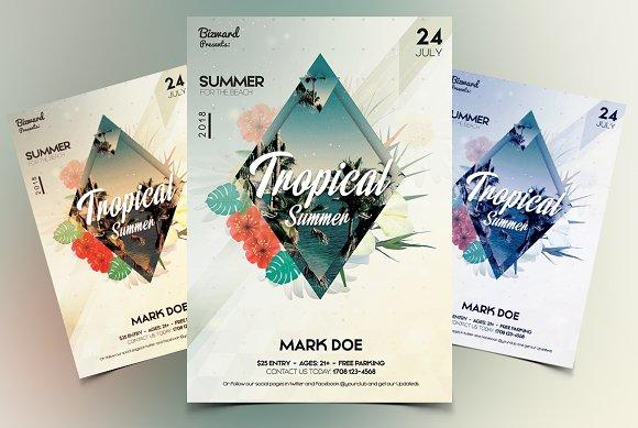 Tropical Summer PSD Flyer