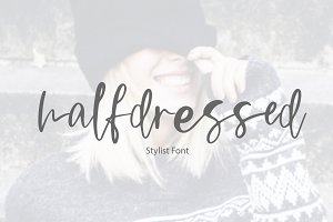 Halfdressed | stylist font