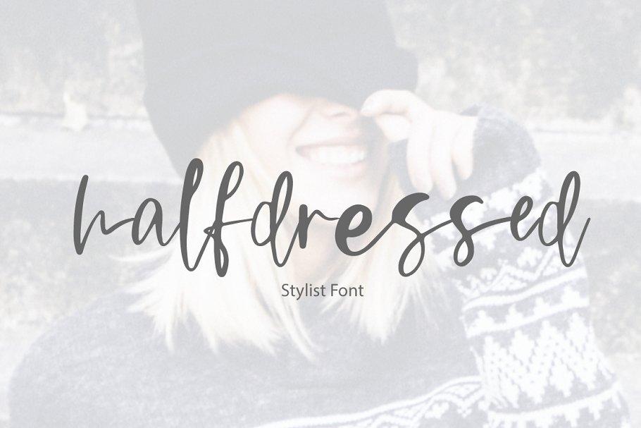 Halfdressed | stylist font