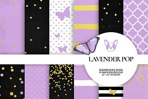 Lavender Purple Digital Papers