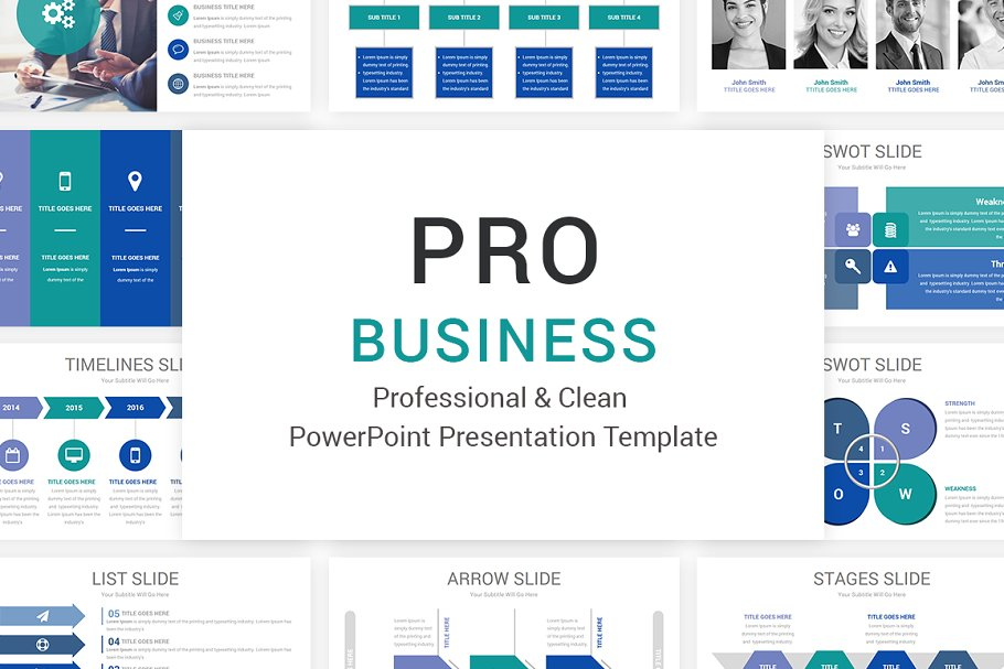 Pro Business Powerpoint Template Powerpoint Templates