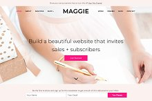 Maggie, Feminine WordPress Theme by Bluchic l Kathie + Andrew in Business