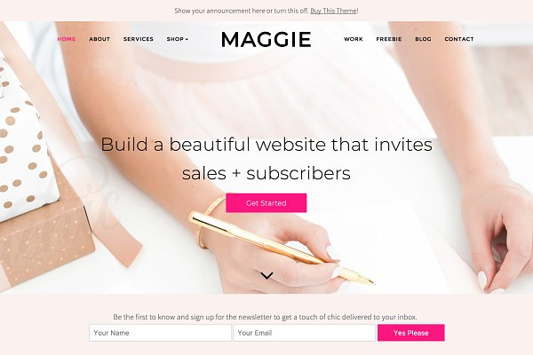 WordPress Business Themes: Bluchic - Maggie, Feminine WordPress Theme