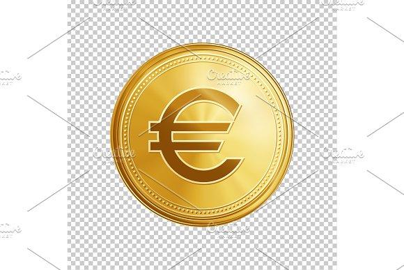 Golden Euro Coin Symbol