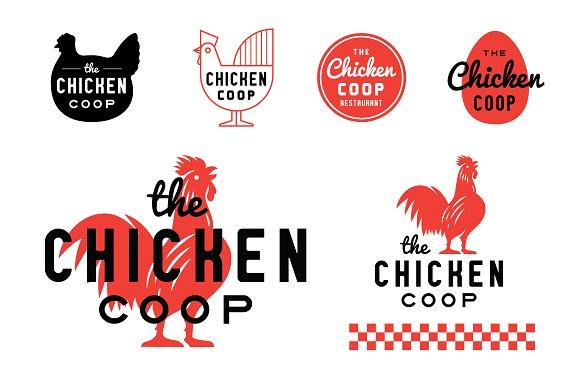 Chicken Coop Rooster Restaurant Logo