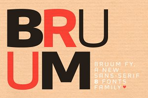 Bruum FY Family (8 fonts)