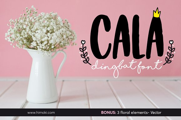 Cala Dingbat Font-floral Elements