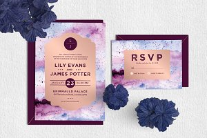 Royal - Wedding Invitation & RSVP