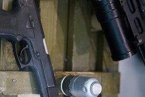 Russian military pistol - soviet weapon